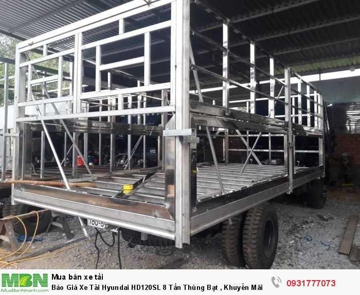 Xe tải 8 tấn Hyundai HD120SL thùng bạt - đóng thùng inox theo yêu cầu khách hàng
