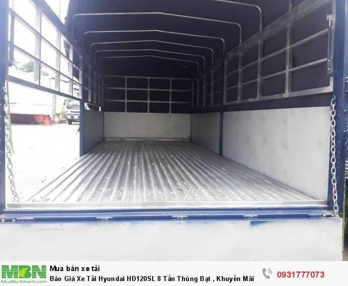 Xe tải 8 tấn Hyundai HD120SL thùng bạt - hỗ trợ vay ngân hàng đến 85% giá trị xe