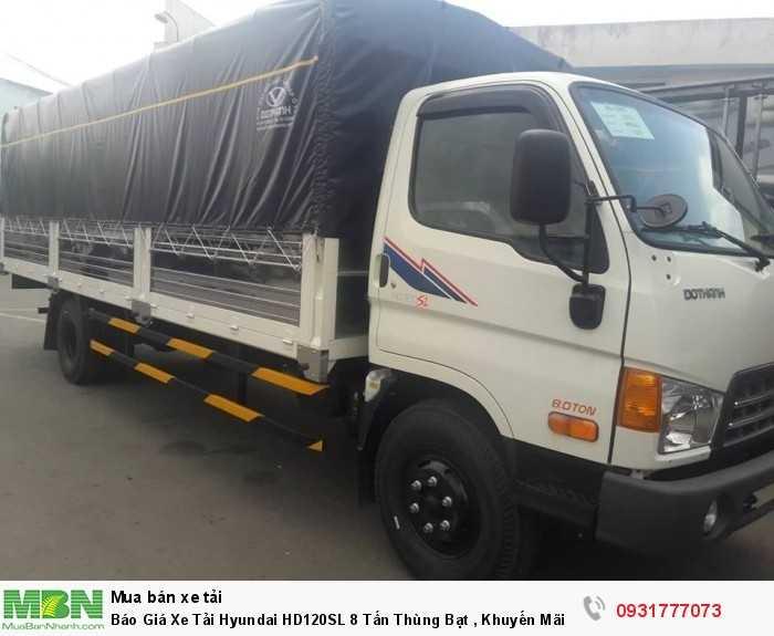 Xe tải 8 tấn Hyundai HD120SL thùng bạt - hỗ trợ đăng ký ra biển số từ Đà Nẵng vào đến Cà Mau