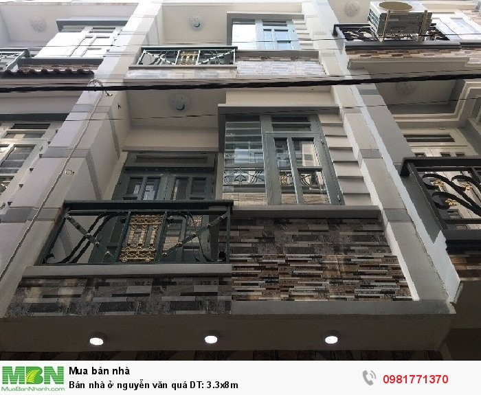 Bán nhà ở nguyễn văn quá DT: 3.3x8m