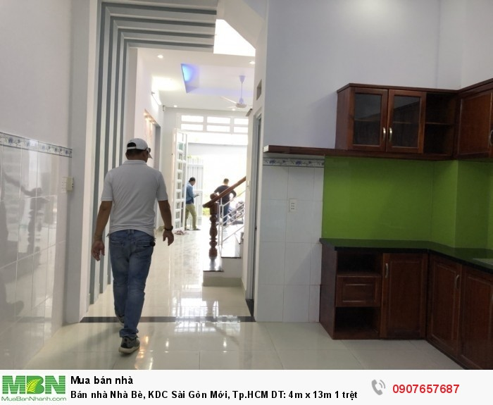 Bán nhà Nhà Bè, KDC Sài Gòn Mới, Tp.HCM DT: 4m x 13m 1 trệt 1 lầu
