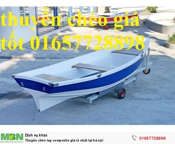 Thuyền chèo tay composite giá rẻ nhất tại hà nội0