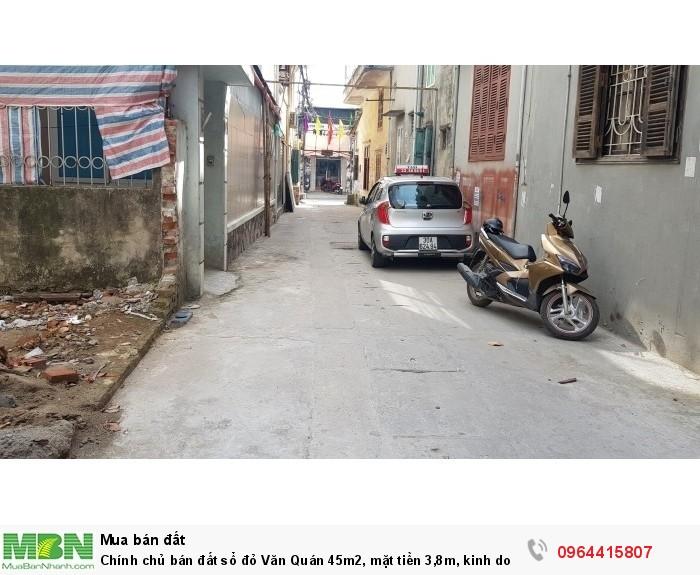 Chính chủ bán đất sổ đỏ Văn Quán 45m2, mặt tiền 3,8m, kinh doanh tốt, ôtô vào nhà.