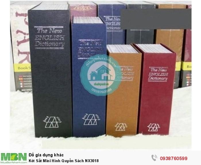 Két Sắt Mini Hình Quyển Sách NX30182