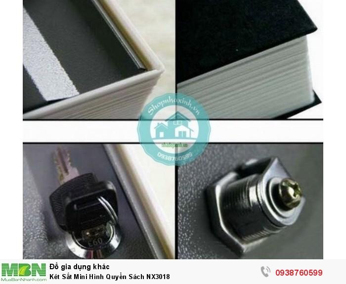 Két Sắt Mini Hình Quyển Sách NX30183