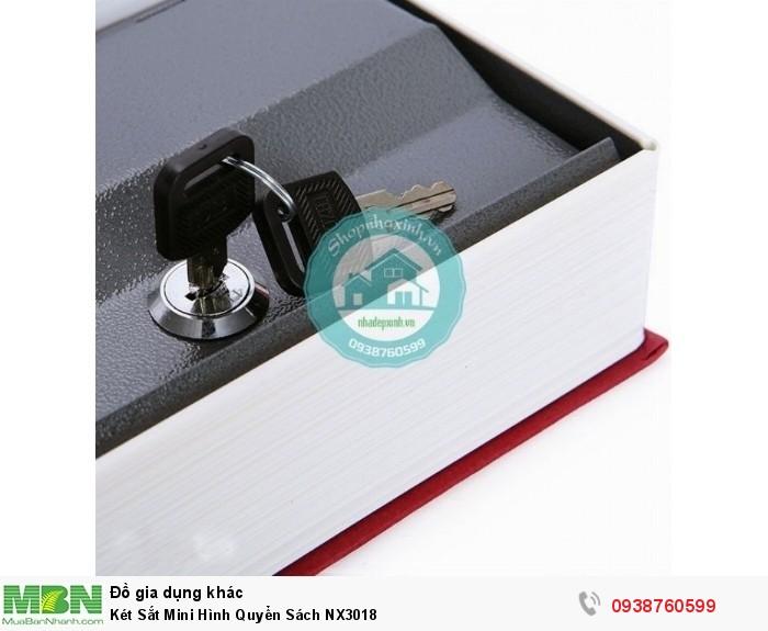 Két Sắt Mini Hình Quyển Sách NX30184