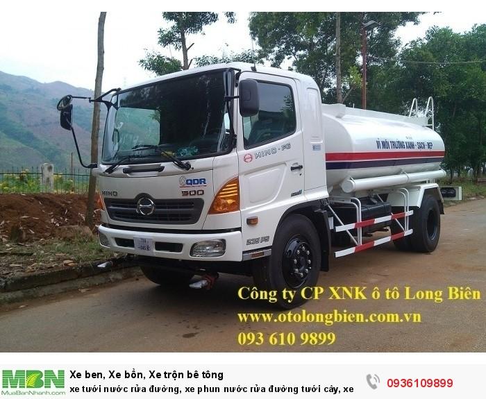 xe tưới nước rửa đường, xe phun nước rửa đường tưới cây, xe rửa đường, xe tuoi nuoc dongfeng