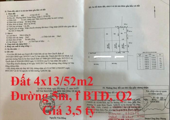 Cần bán nhanh đất hxh Nguyễn Trung Nguyệt 53m2