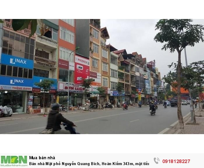 Bán nhà Mặt phố Nguyễn Quang Bích, Hoàn Kiếm 343m, mặt tiền 11m. Gía 132 tỷ