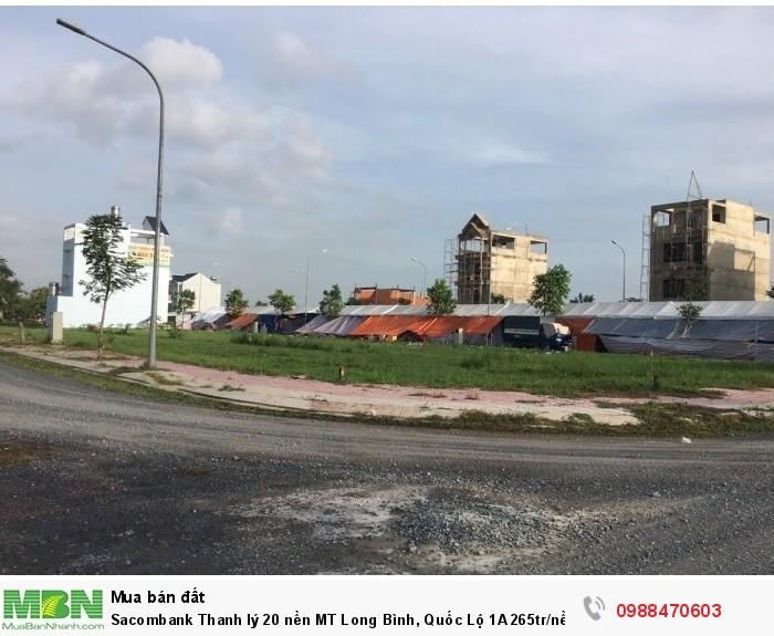 Sacombank Thanh lý 20 nền MT Long Bình, Quốc Lộ 1A 80m2