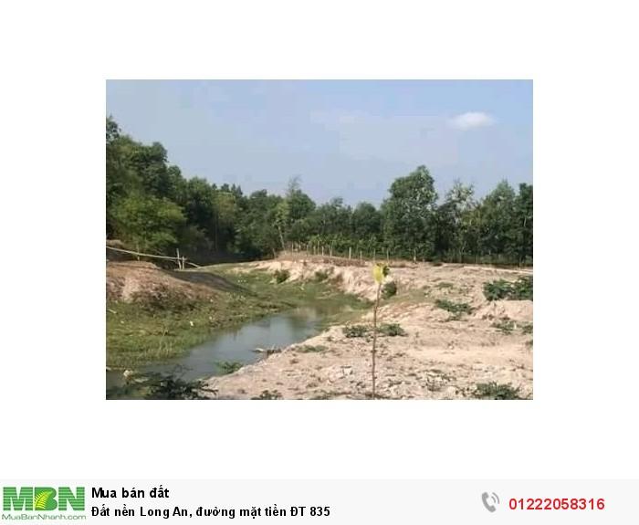 Đất nền Long An, đường mặt tiền ĐT 835
