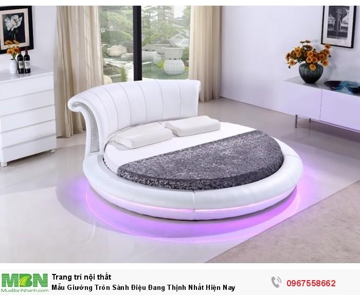 giường ngủ hình tròn màu trắng9