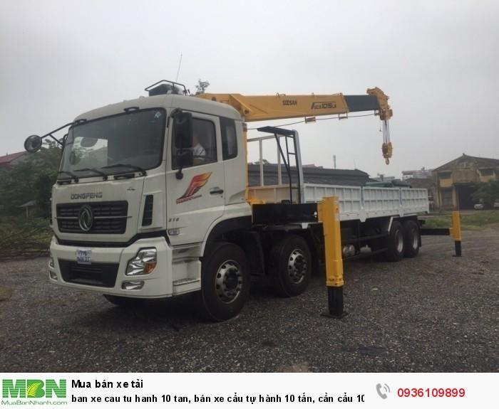 Bán xe cẩu tự hành 10 tấn, giá xe cẩu tự hành 10 tấn, xe tải gắn cẩu dongfeng 10 tấn