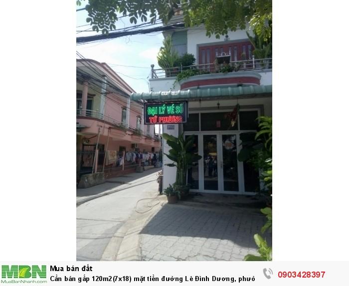 Cần bán gấp 120m2(7x18) mặt tiền đường Lê Đình Dương, phường An Lạc, Bình Tân.
