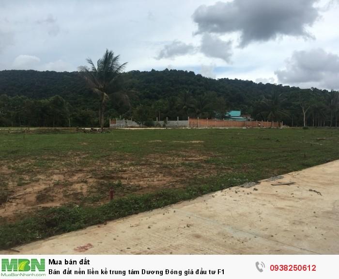 Bán đất nền liền kề trung tâm Dương Đông giá đầu tư F1