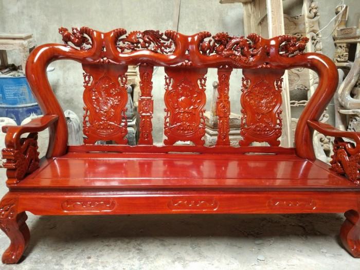 Bộ bàn ghế giả cổ trạm tứ linh gỗ lim8