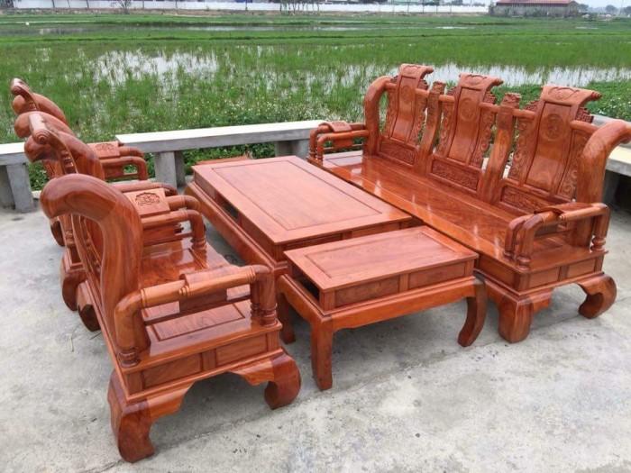 Bộ bàn ghế tần thủy hoàng gỗ hương đá0