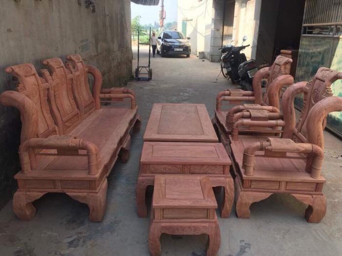 Bộ bàn ghế tần thủy hoàng gỗ hương đá1