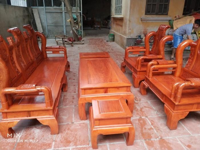 Bộ bàn ghế tần thủy hoàng gỗ hương đá2