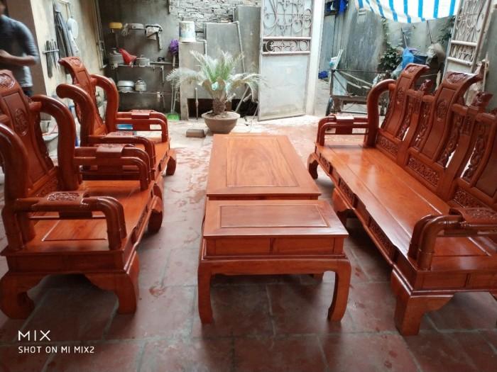 Bộ bàn ghế tần thủy hoàng gỗ hương đá6