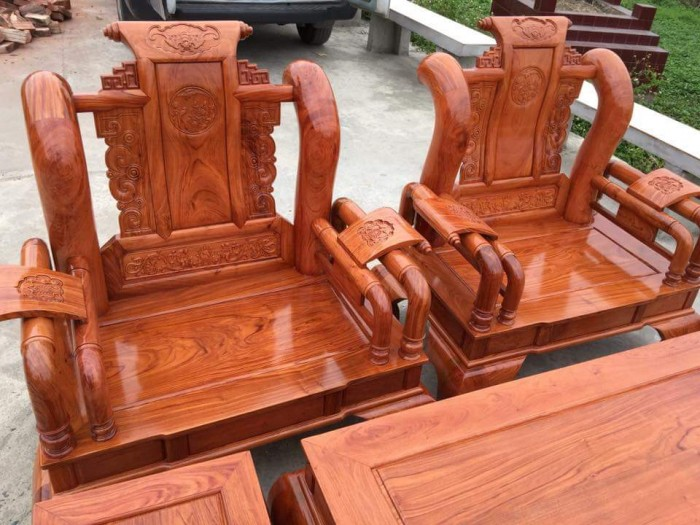 Bộ bàn ghế tần thủy hoàng gỗ hương đá7
