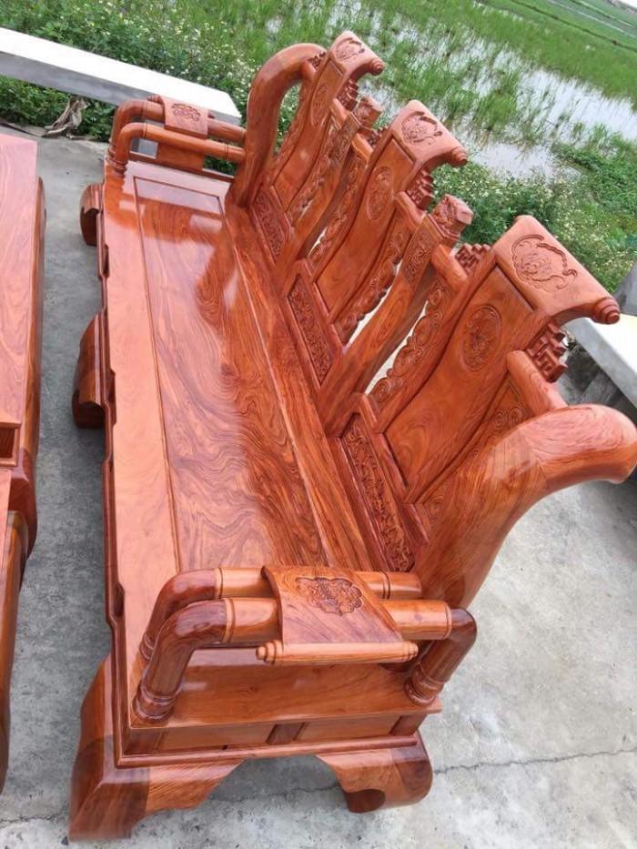 Bộ bàn ghế tần thủy hoàng gỗ hương đá10