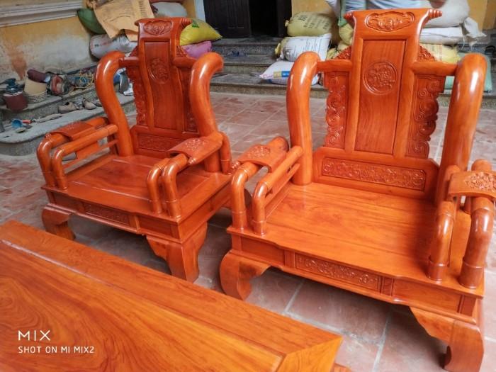 Bộ bàn ghế tần thủy hoàng gỗ hương đá9