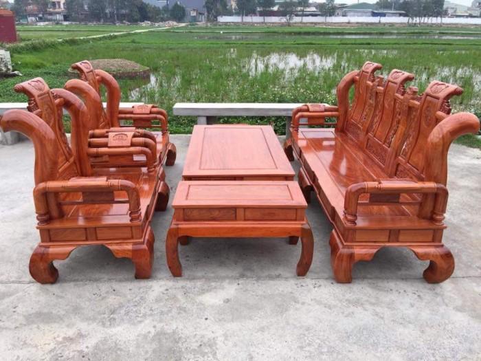 Bộ bàn ghế tần thủy hoàng gỗ hương đá11