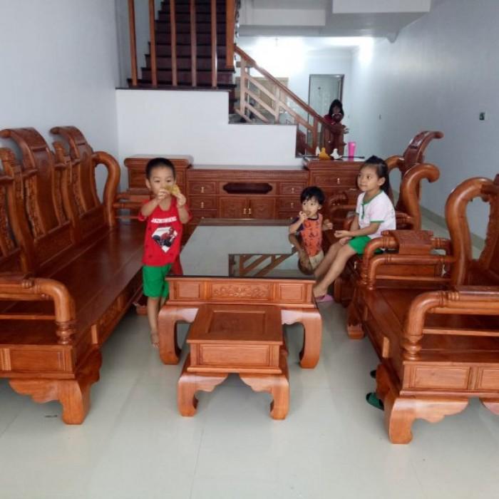 Bộ bàn ghế tần thủy hoàng gỗ hương đá13