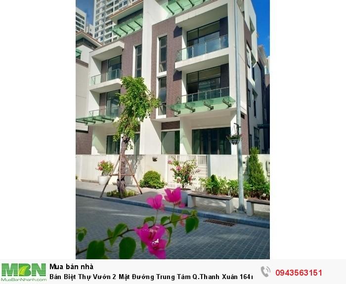 Bán Biệt Thự Vườn 2 Mặt Đường Trung Tâm Q.Thanh Xuân 164m2, Mặt Tiền 9m View Đẹp