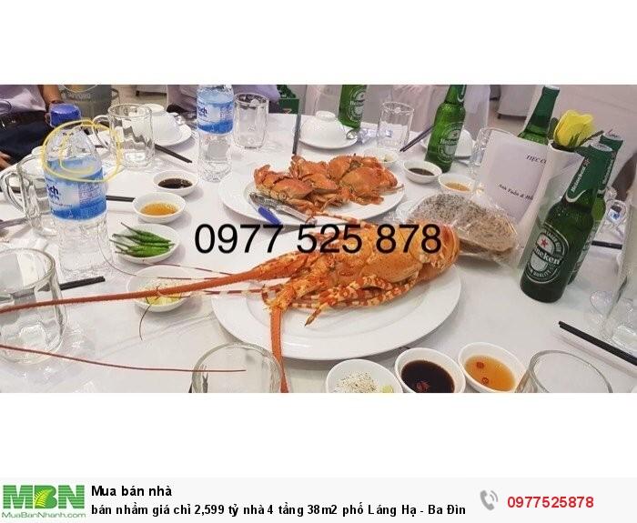 Bán nhầm giá chỉ 2,599 tỷ nhà 4 tầng 38m2 phố Láng Hạ - Ba Đình
