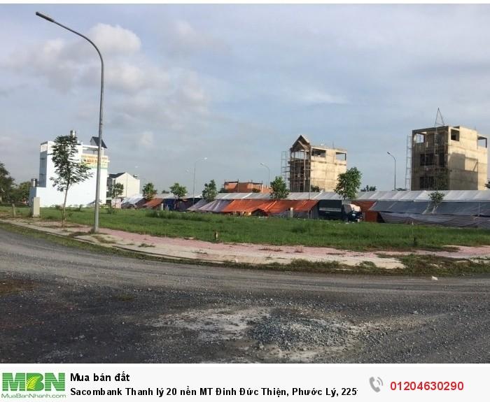 Sacombank Thanh lý 20 nền MT Đinh Đức Thiện, Phước Lý, 225tr/nền 90m2 thổ cư, SHR.