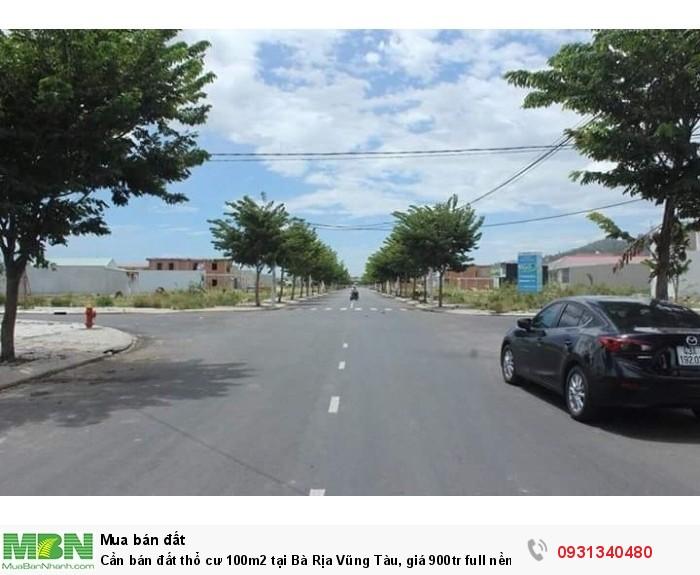 Cần bán đất thổ cư 100m2 tại Bà Rịa Vũng Tàu, giá 900tr full nền