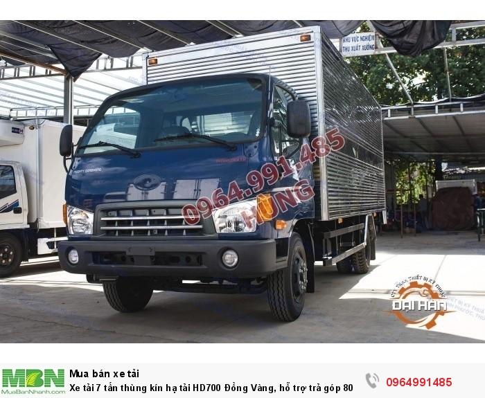Xe tải 7 tấn thùng kín hạ tải HD700 Đồng Vàng, hỗ trợ trả góp 80% 0