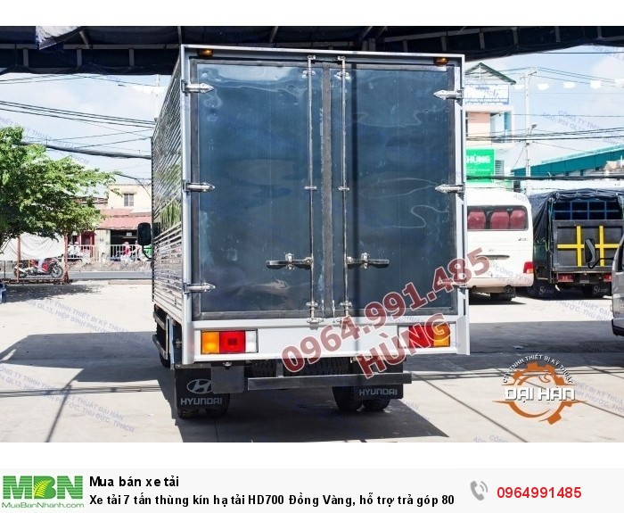 Xe tải 7 tấn thùng kín hạ tải HD700 Đồng Vàng, hỗ trợ trả góp 80% 1