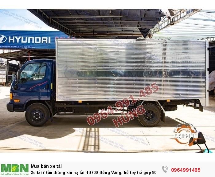 Xe tải 7 tấn thùng kín hạ tải HD700 Đồng Vàng, hỗ trợ trả góp 80% 2