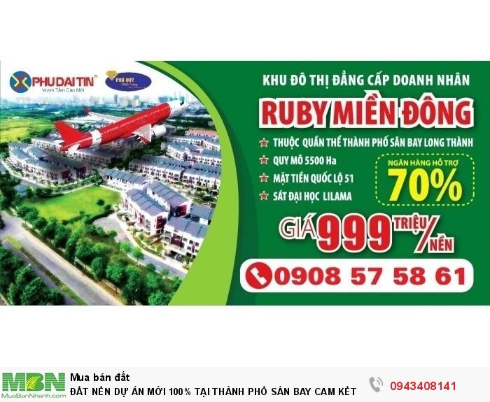 Đất Nền Dự Án Mới 100% Tại Thành Phố Sân Bay Cam Kết Sinh Lời 25%/ 3 Tháng