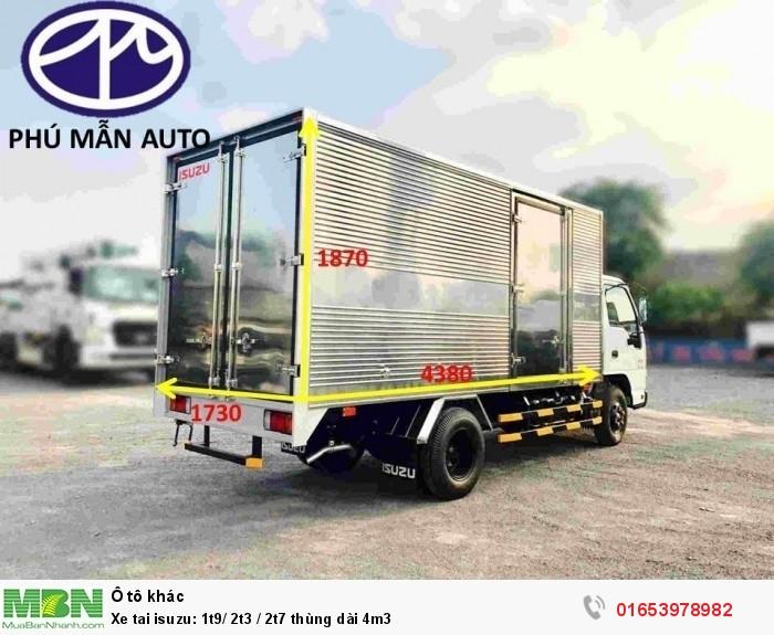 Xe tải Isuzu: 1t9/ 2t3 / 2t7 thùng dài 4m3 3
