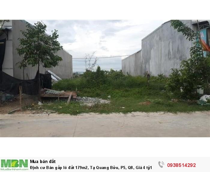 Định cư Bán gấp lô đất 179m2, Tạ Quang Bửu, P5, Q8