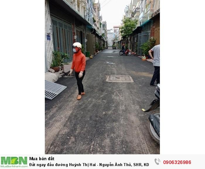 Đất ngay đầu đường Huỳnh Thị Hai - Nguyễn Ảnh Thủ, SHR, KDC hiện hữu xây dựng tự do, đường nhựa 12m