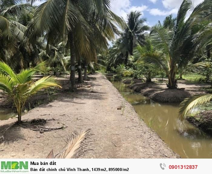 Bán đất chính chủ Vĩnh Thanh, 1439m2, 895000/m2