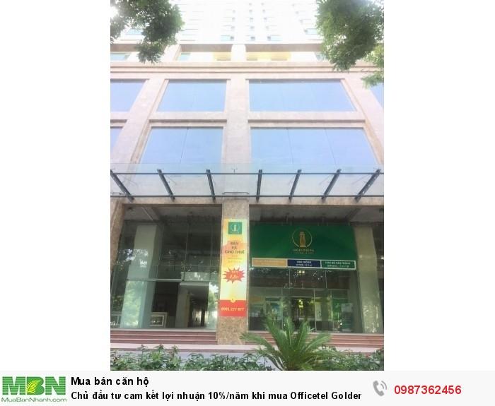 Chủ đầu tư cam kết lợi nhuận 10%/năm khi mua Officetel Golden King
