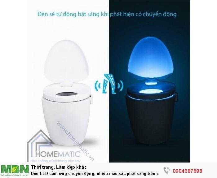Đèn LED cảm ứng chuyển động, nhiều màu sắc phát sáng bồn cầu LB80