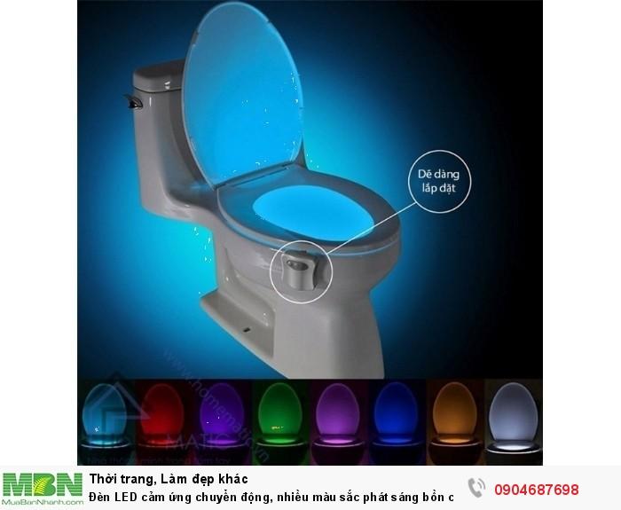 Đèn LED cảm ứng chuyển động, nhiều màu sắc phát sáng bồn cầu LB83