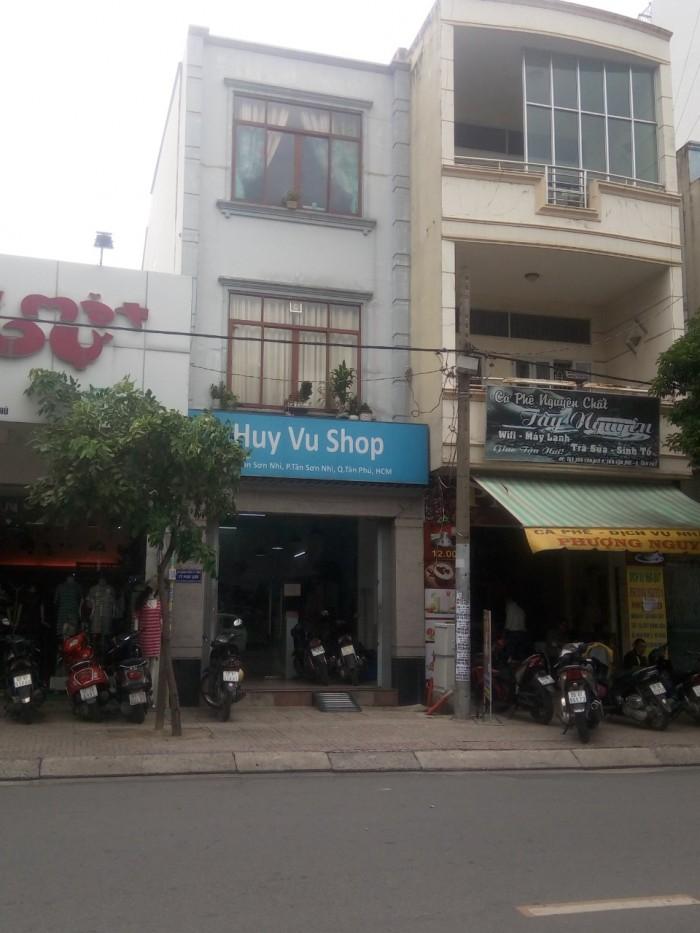 Bán Nhà MTKD Đường Tân Sơn Nhì Q Tân Phú,dt 4x18,4m.1 trệt 2 lầu