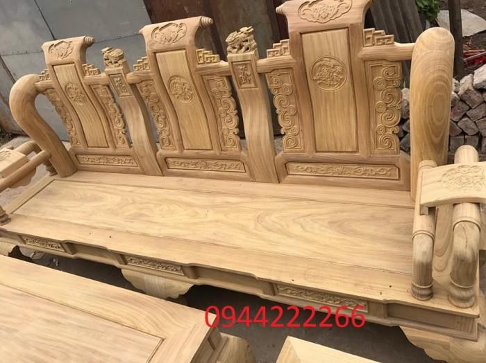 Bộ bàn ghế tần thủy hoàng gỗ cẩm vàng tay 122