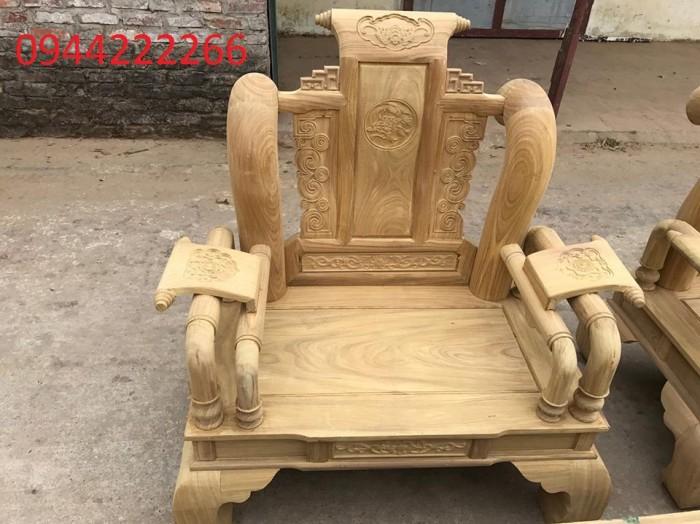 Bộ bàn ghế tần thủy hoàng gỗ cẩm vàng tay 121