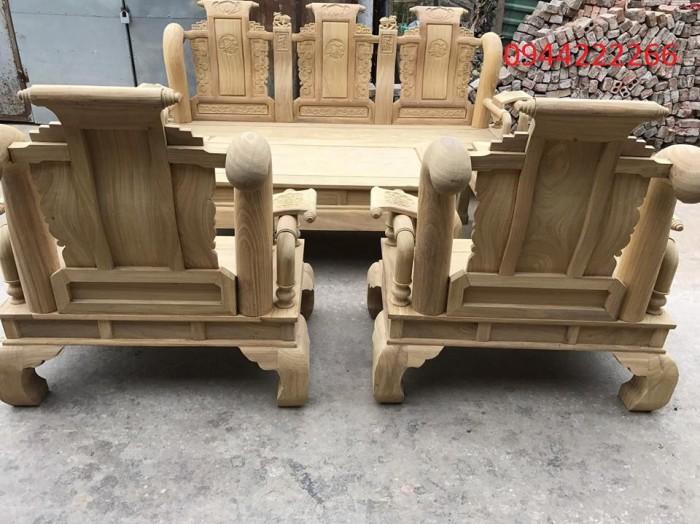 Bộ bàn ghế tần thủy hoàng gỗ cẩm vàng tay 123