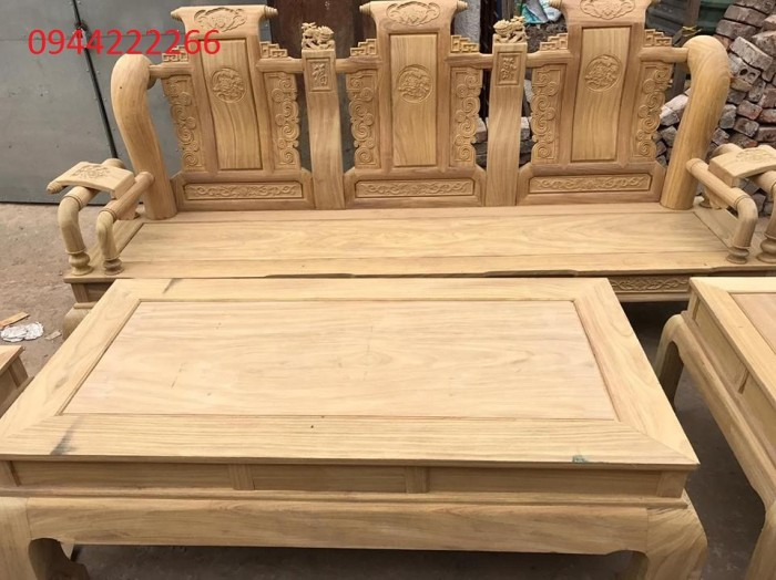 Bộ bàn ghế tần thủy hoàng gỗ cẩm vàng tay 124