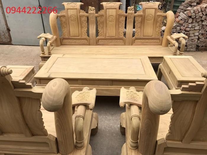 Bộ bàn ghế tần thủy hoàng gỗ cẩm vàng tay 126